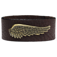 Angel Wing Wristband - New Age, Spiritual Gifts, Yoga, Wicca, Gothic, Reiki, Celtic, Crystal, Tarot at Pyramid Collection