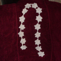 handmade crocheted Snowflake Garland by CanadianCraftCritter