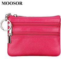 New Women Wallet Genuine Leather Coin Purse Travel Organizer 11 Colors Women Storage Bag Key Holder Day Clutch Card Holders HB45