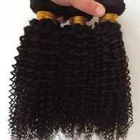 1Pc Kinky Curly 5A Remy Indian Hair Weave