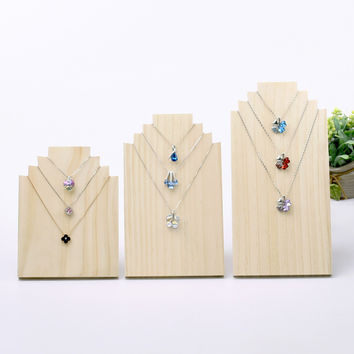 Wood Necklace Display Bust Pendant Display Stand Wood Jewelry Holder Jewellry Display Bust
