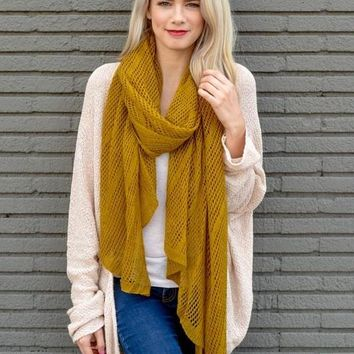 Lightweight Net Wrap Scarf (final sale)