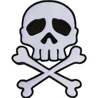 Skull Cross Bones [White] | PATCH