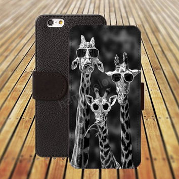 iphone 5 5s case dream Glasses of giraffe iphone 4/4s iPhone 6 6 Plus iphone 5C Wallet Case,iPhone 5 Case,Cover,Cases colorful pattern L389