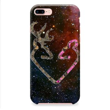 BROWNING STYLE HEART BUCK DOE DEER STICKER DECAL DUCK HUNTING iPhone 8 | iPhone 8 Plus Case