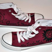 Supernatural shoes, converse style. Shoes based on the TV show Supernatural