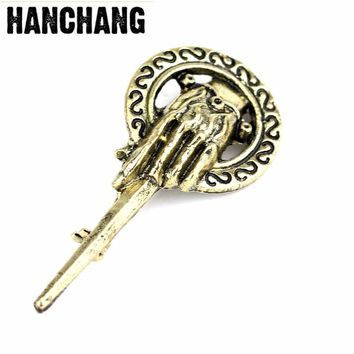 TV Jewelry Game of Thrones Song of Ice and Fire Brooch Hand of the King Lapel Inspired Authentic Prop Pin Badge Brooches Broches