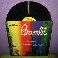 Vinyl Record Disney's Bambi All Songs from the by JustCoolRecords