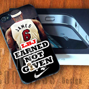 Nike Lebron James Superstar Miami Heat  - Print Custom Case - Rubber or Plastic - iPhone 4 or 4s / 5, Samsung S3 / S4, iPod 4 /5
