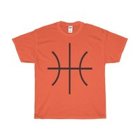 Basketball Halloween Costume For Men or Women Round Ball Orange or Brown Sports Ball Lined Unisex Ultra Cotton Tee