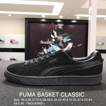Puma Suede Classic Basket Black Casual Shoes Sneaker - 356328-01