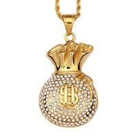 Shiny Gift Jewelry New Arrival Titanium Accessory Hip-hop Stylish Pendant Necklace [10737328515]