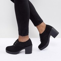 ASOS OFFERING Wide Fit Lace Up Heeled Shoes at asos.com