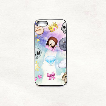 Emoji alien sassy iPhone 5 5s 4 4s Hard Case Black/White/Transparent Grunge Indie Hipster vintage Tropical Summer Tumblr One direction 5sos