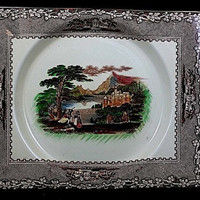 "Antique 1891 Royal Staffordshire Dish ""The Biarritz"" Jenny Lind C.M.& S Plate Free Shipping!"