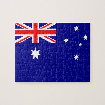 Puzzle with Flag of Australia