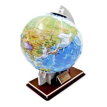 DIY Paper Puzzle Toys, World Globe Model Jigsaw Puzzle, Educational English Edition Paper Craft Model, Toys For Children Adults