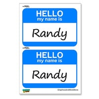 Randy Hello My Name Is - Sheet of 2 Stickers