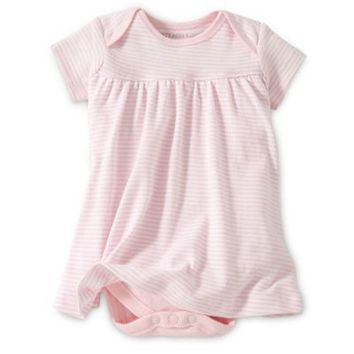 Burt's Bee's Baby™ Organic Cotton Short Sleeve Dress in Pink Stripe
