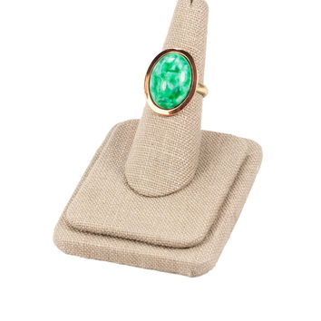 70's__Vintage__Adjustable Jade Ring