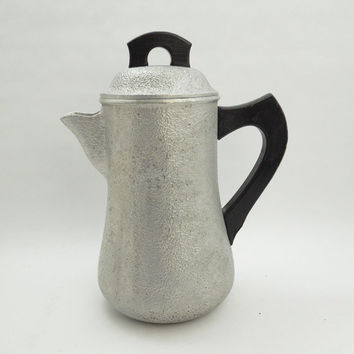 Century Silver Seal coffee pot - Vintage silver-tone coffee pot water pitcher - Metalcraft Corporation