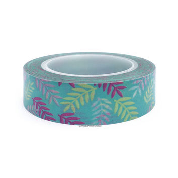 Multi Color Ferns Paper Washi Tape, 15mm x 10m: Love My Tapes