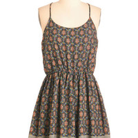 ModCloth Mid-length Spaghetti Straps A-line Head of the Art Class Dress