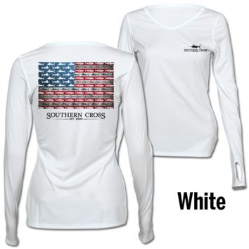 American Flag and Release Ladies Performance Gear