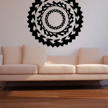 Vinyl Wall Decal Sticker Pointy Circle Design #OS_MB1129