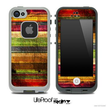 Grungy Color Striped Skin for the iPhone 5 or 4/4s LifeProof Case