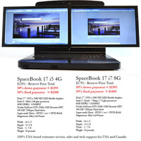 Laptops by gScreen: dual screens, one laptop with Windows 7