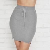 Shape Me Up Skirt In Grey