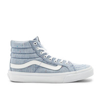 Vans SKi-Hi Slim Sneaker in Blue & True White