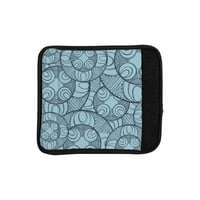 "Maike Thoma ""Layered Circles Design"" Blue Floral Luggage Handle Wrap"