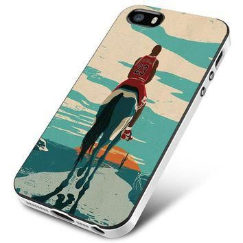 Jordan Riding Horse Michael Jordan iPhone 5 | 5S | 5SE Case Planetscase.com