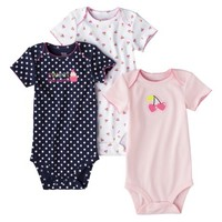 Just One You™Made by Carter's® Newborn Girls' 3 Pack Bodysuit - Cupcake