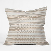 Allyson Johnson Tan Aztec Throw Pillow