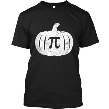 Pumpkin Pi T-Shirt Funny Halloween Pumpkin Pun Humor Custom Ultra Cotton