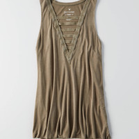AEO Soft & Sexy Ladder Front Tank , Olive
