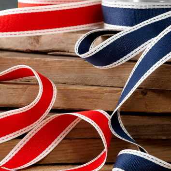 Woven ribbon red