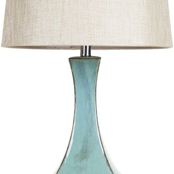 Lamp Modern Table Lamp Turquoise Reactive Glaze Neutral
