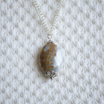 Granite Quartz Stone Necklace Pendant