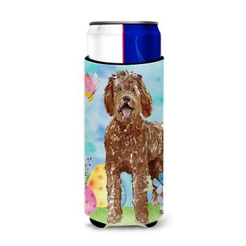 Easter Eggs Labradoodle Michelob Ultra Hugger for slim cans CK1911MUK