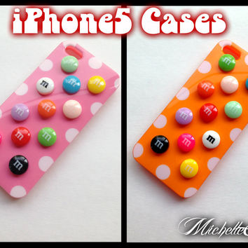 Colorful Resin Candy iPhone 5 5s Case Polka Dots iPhone5 Case iPhone5s Case Sweets Kawaii Hard Shell silicone