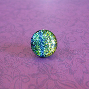 Colorful Tie Pin, Tie Tack, Lapel Pin for Men, Green, Blue, Golden Orange - Horizon - 55 -3