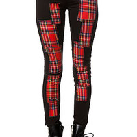Tripp NYC Jean Plaid Patchwork in Black