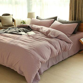 ac PEAPON On Sale Bedroom Comfortable Hot Deal Home Bedding Double-layered Plaid Bed Sheet [45985693721]