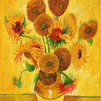HD Canvas Prints Painting Van Gogh Sunflowers Wall Art Oil Paintings Home Decor Famous Art Pictures Canvas Painting