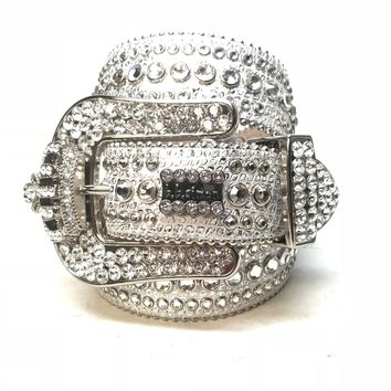 B.B. Simon 'Chrome Crown' Fully Loaded Swarovski Crystal Belt