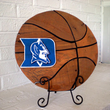 Handmade Wooden Basketball – Duke University